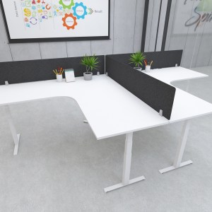 s164 desk top privacy screen modesty panel black