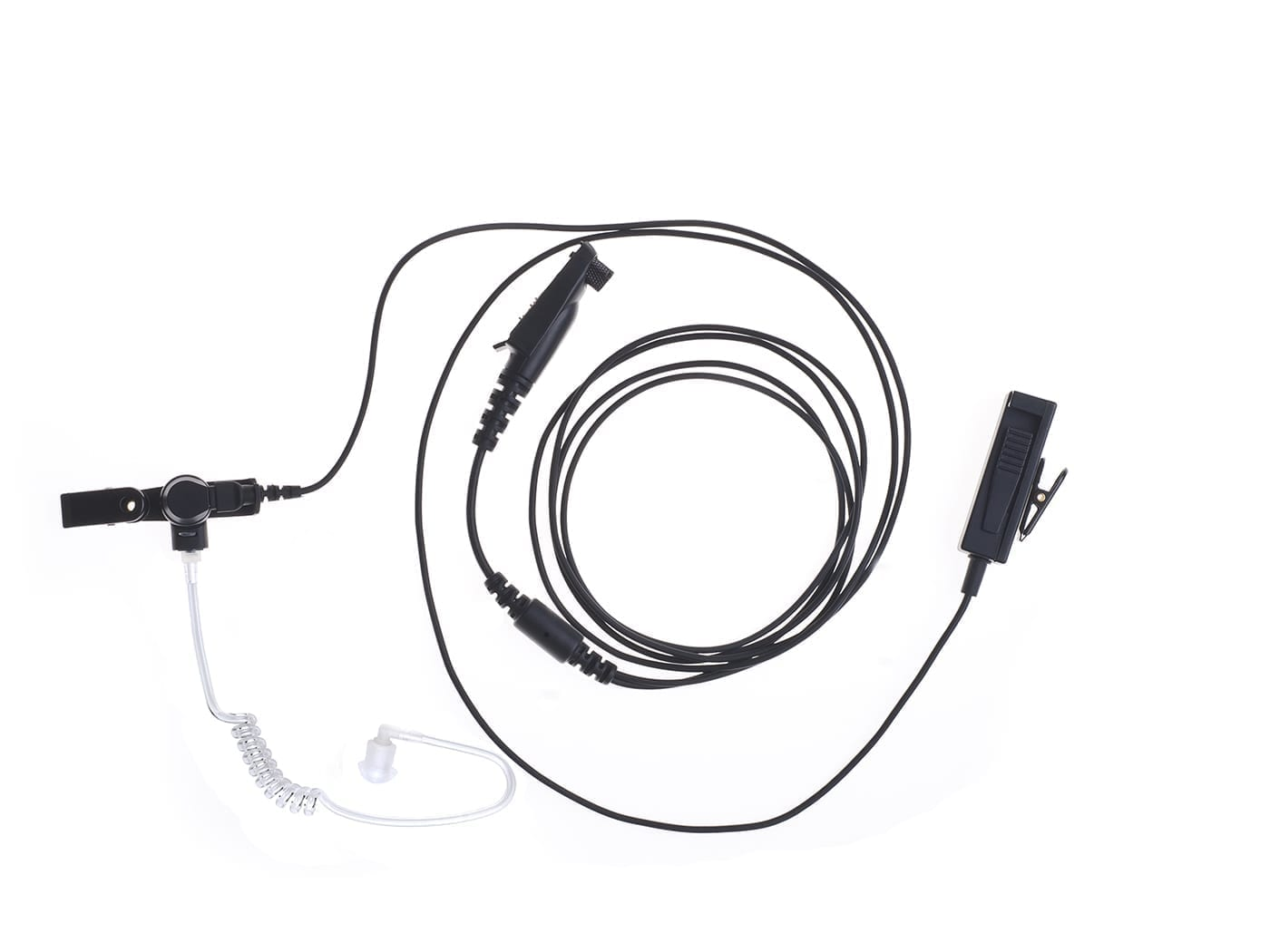 2 Wire Ptt Surveillance Kit With Knowles Speaker