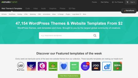 themeforest homepage