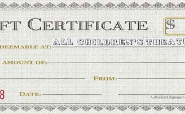 All Children S Theatre Gift Certificates