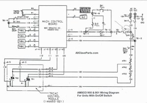 AMSCO 900 Wiring Diagram (WITH ONOFF SWITCH)