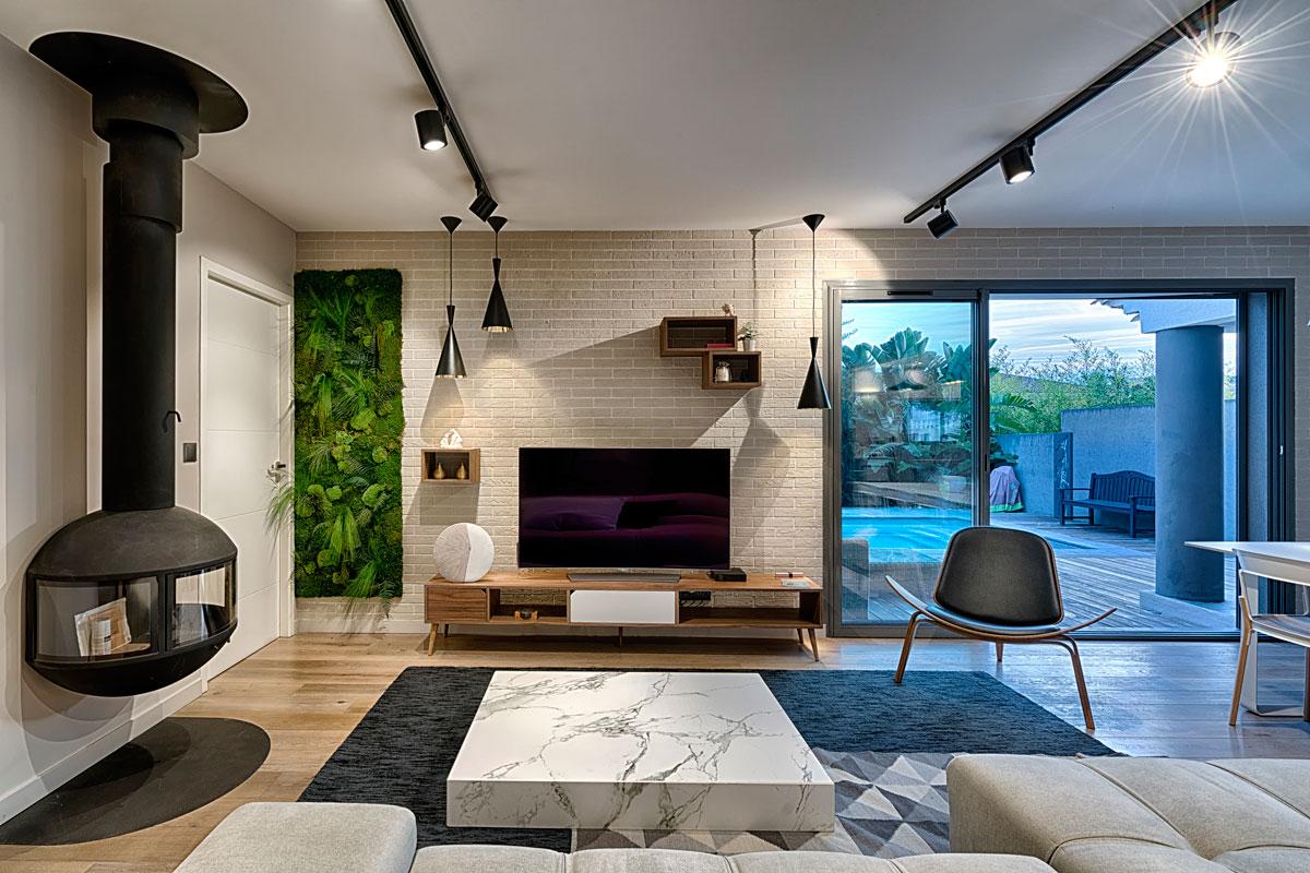 superbe salon moderne de decoration scandinave