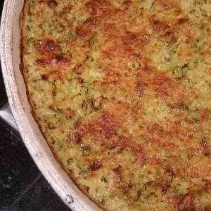 Voila! Zucchini gratin for #everyfuckingnight (and probably never again).