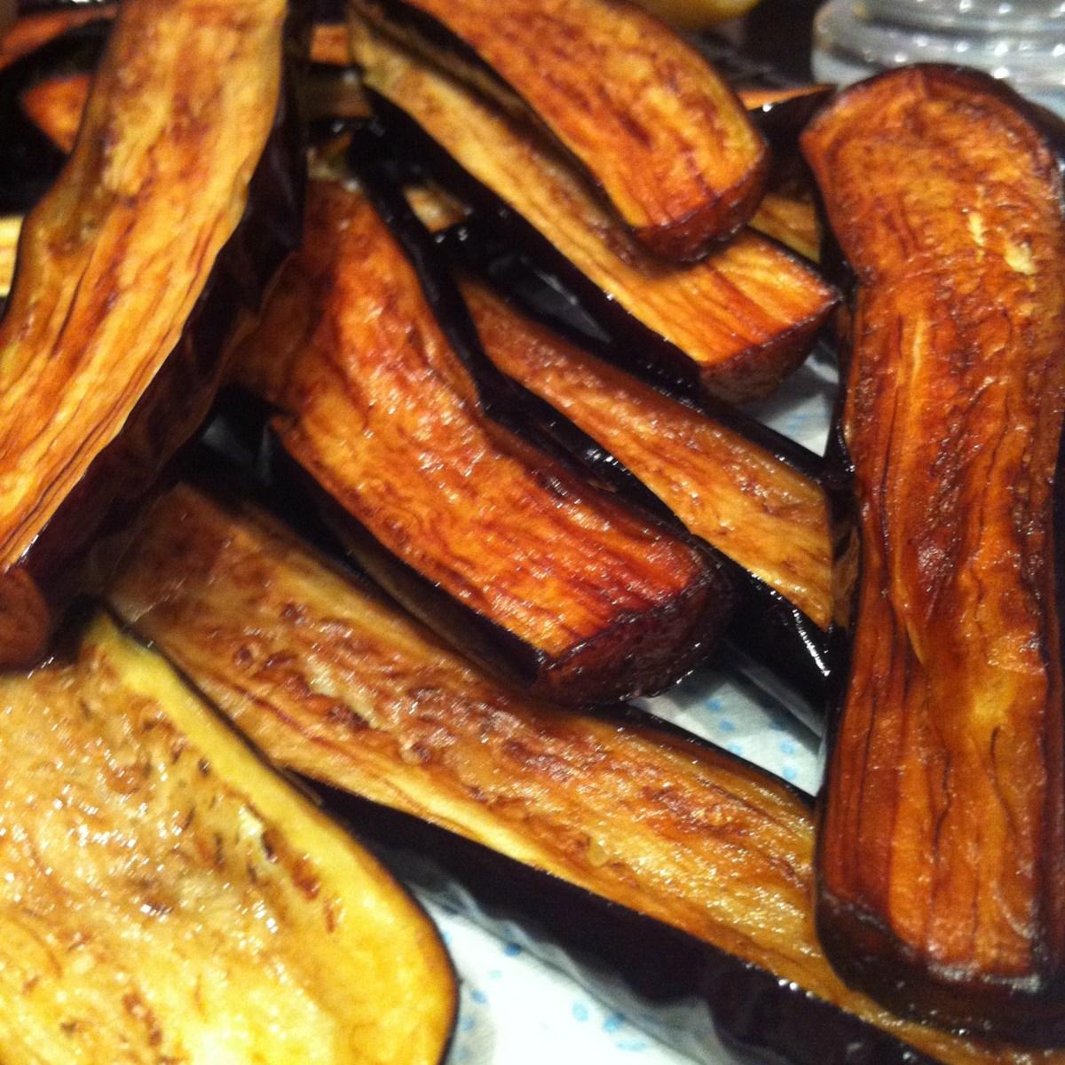 Fried eggplant