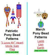 Holiday Pony Bead Patterns