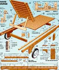 folding lawn chair lounger baby bath walmart over 100 free outdoor woodcraft plans at allcrafts.net