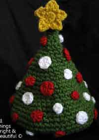crochet christmas chair covers belmont barber repair crafts projects at allcrafts net tree baby hat pattern