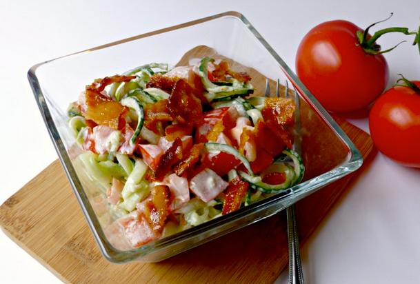 Bacon, Tomato, Cucumber Salad recipe