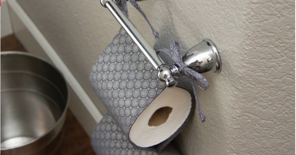 toilet paper holder DIY fabric tutorial step by step