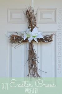 Cross Door Wreath DIY For Easter - All Created