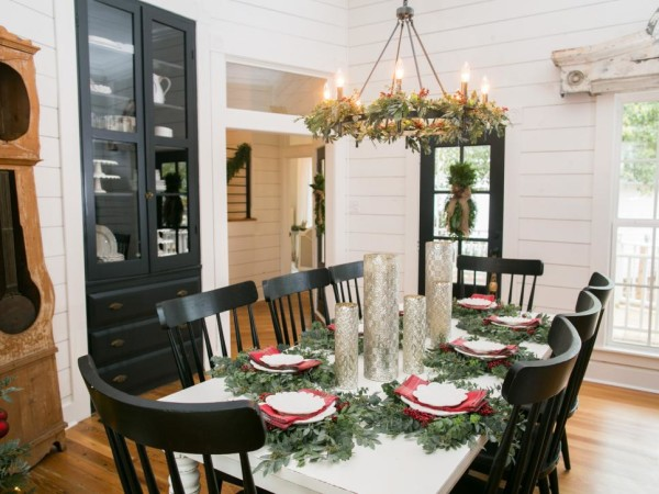 living rooms decorated by joanna gaines decorating ideas for a small room farmhouse christmas decor is cheery and ...