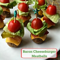 Bacon Cheeseburger Meatball Skewers Are Party Perfect With ...