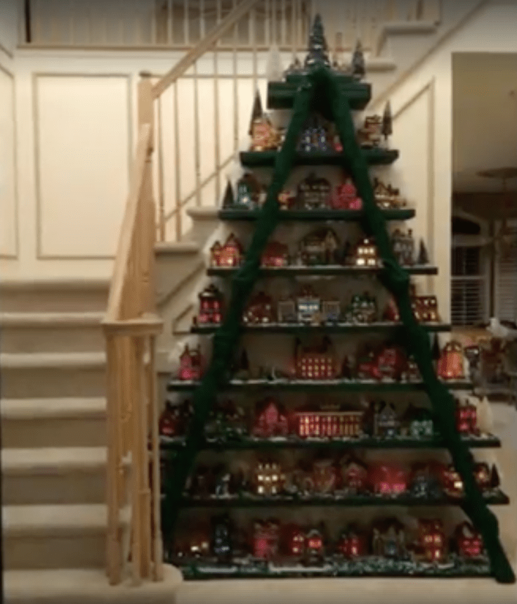 Ladder Christmas Tree Village Is A Unique Way To Display