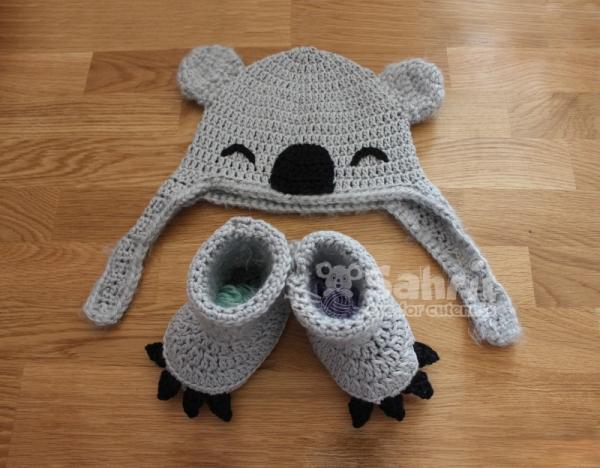 Koala Hat and Booties crochet pattern  Allcrochetpatternsnet