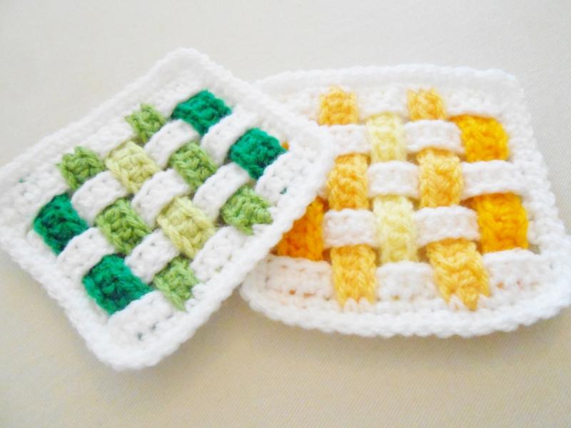 Weave Granny Square Free Crochet Pattern