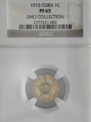 1915 Proof Star 1 Centavo - NGC PF65
