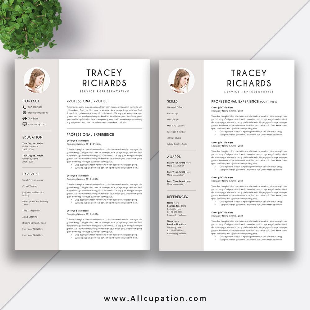 Modern and Creative Resume Template CV Sample Best
