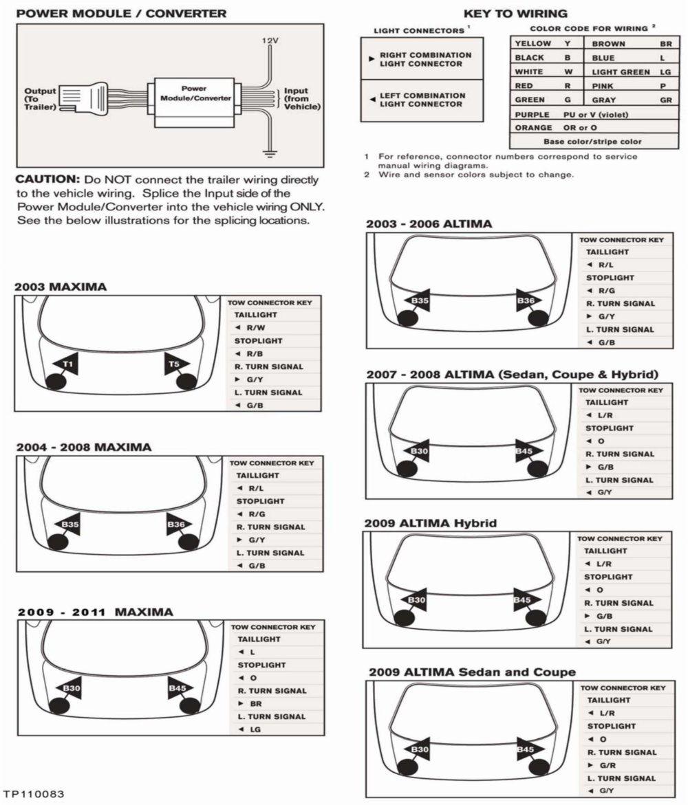 medium resolution of the wiring diagrams contained in this bulletin are for nissan vehicles that have trailer towing capability see the owners manual but do not have a genuine