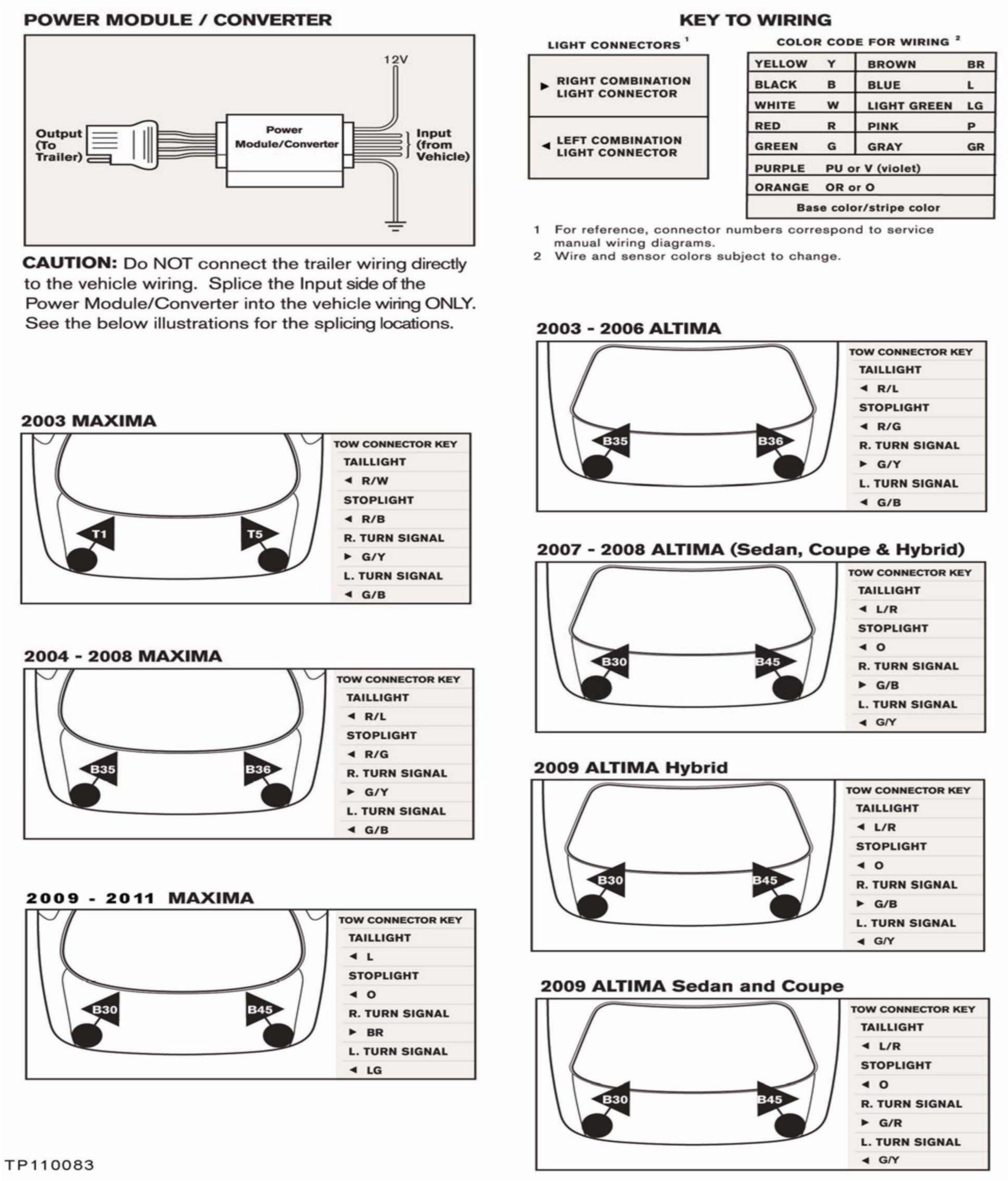 hight resolution of the wiring diagrams contained in this bulletin are for nissan vehicles that have trailer towing capability see the owners manual but do not have a genuine