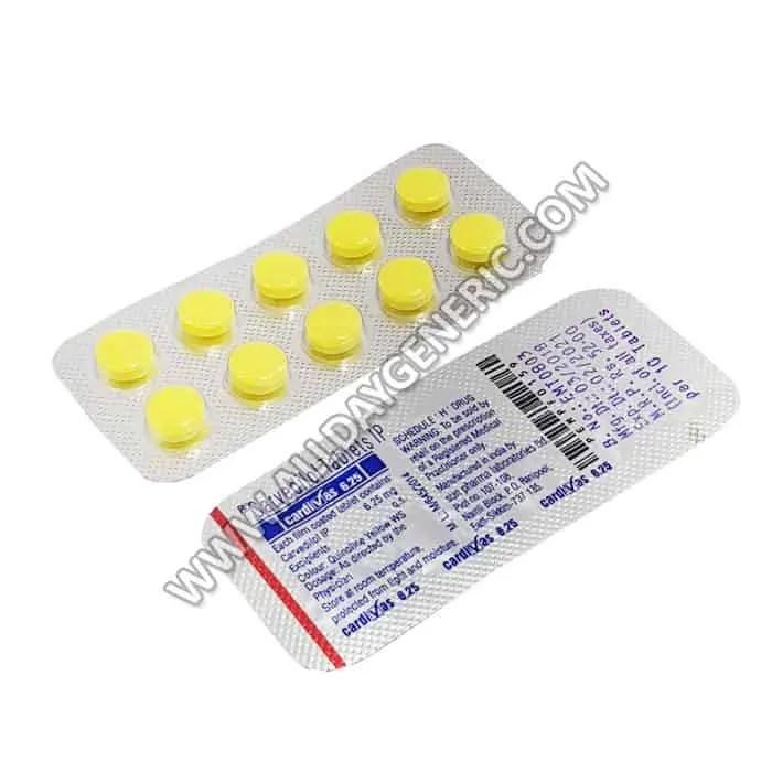 Carvedilol 6.25 mg (Cardivas) Uses Dose Side effects ...