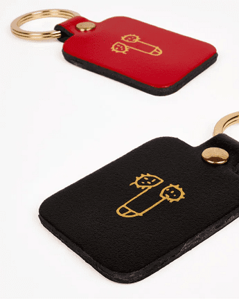 Dick keychain red and black