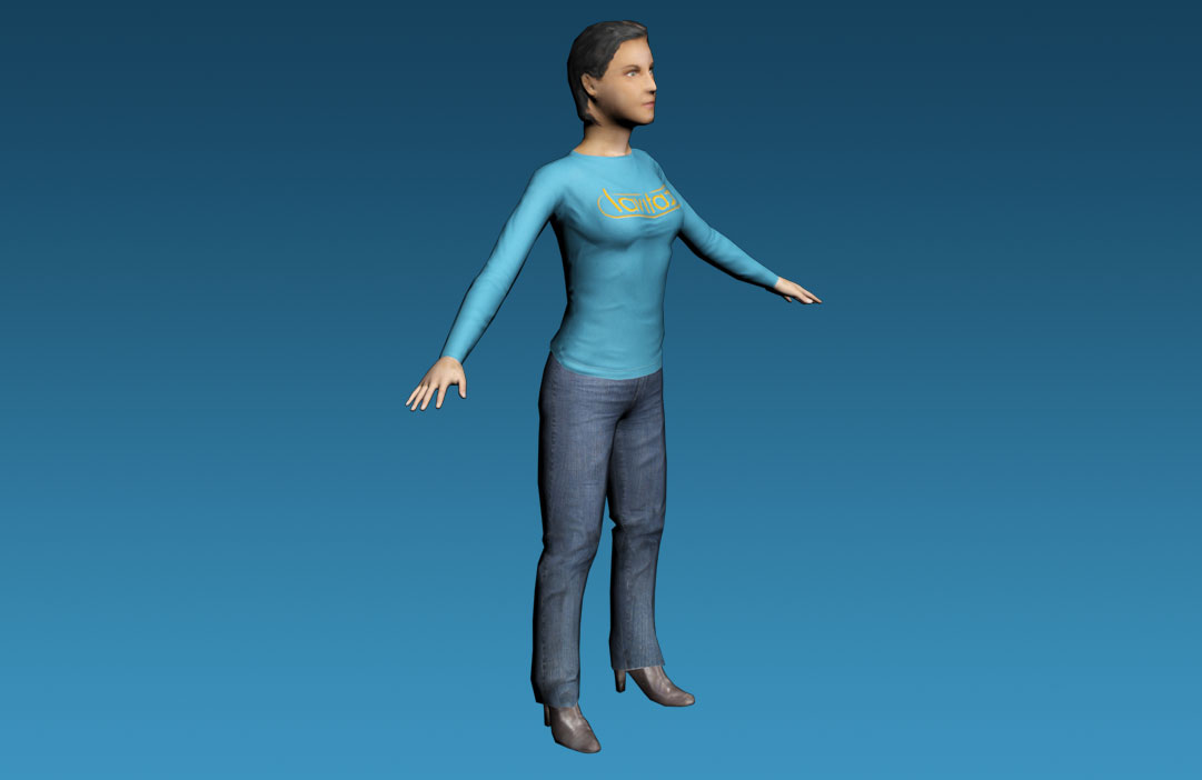 Free Female Rigged Character