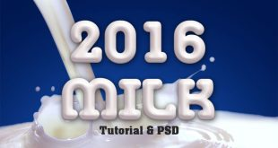 How to Create Milk Text Effect in Photoshop
