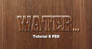 Water Text Effect Photoshop Tutorial