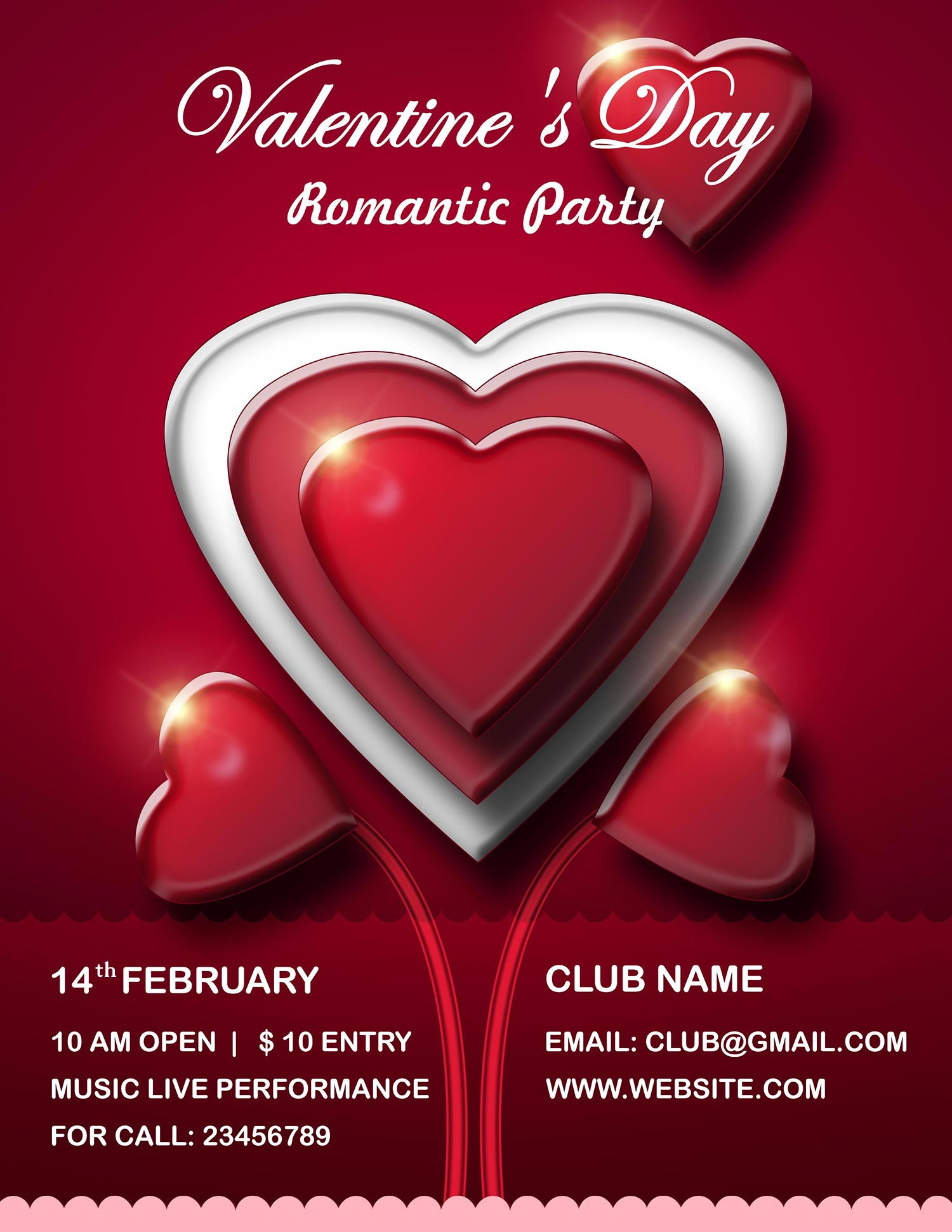 Valentine's Day Flyer PSD Templates Free Download