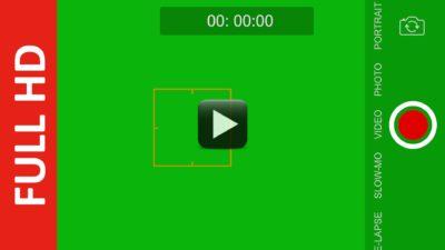iphone camera recording green