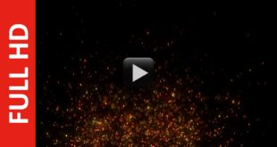 Fire Dust Particles Sparks Black Screen Effects Background HD 1080p