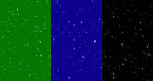 Snowfall Green Screen, Blue & Black Background Royalty Free