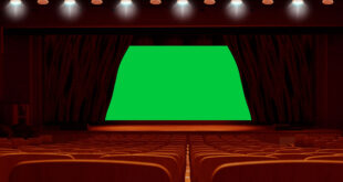 Cinema Hall Screen Curtain Animation Green Screen Video-Free Green Screen Curtain Intro Background