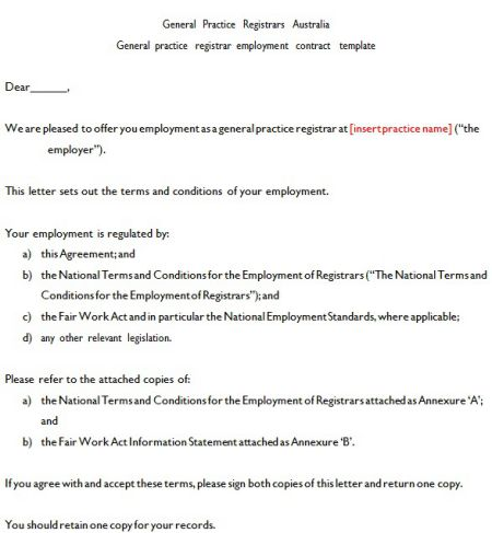It can be used for a range of different employment types, including full time, part time, casual, and fixed term. Australian Employment Contract Template Free Template Tips