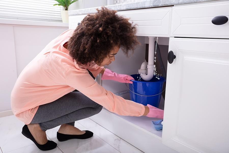 how to fix leak under kitchen sink a