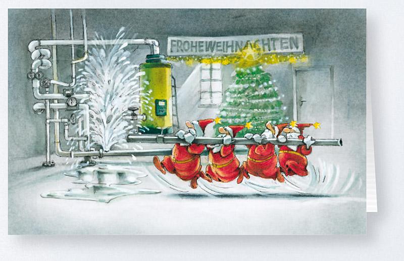 Weihnachtskarte Branchenkarte f Sanitrbetriebe