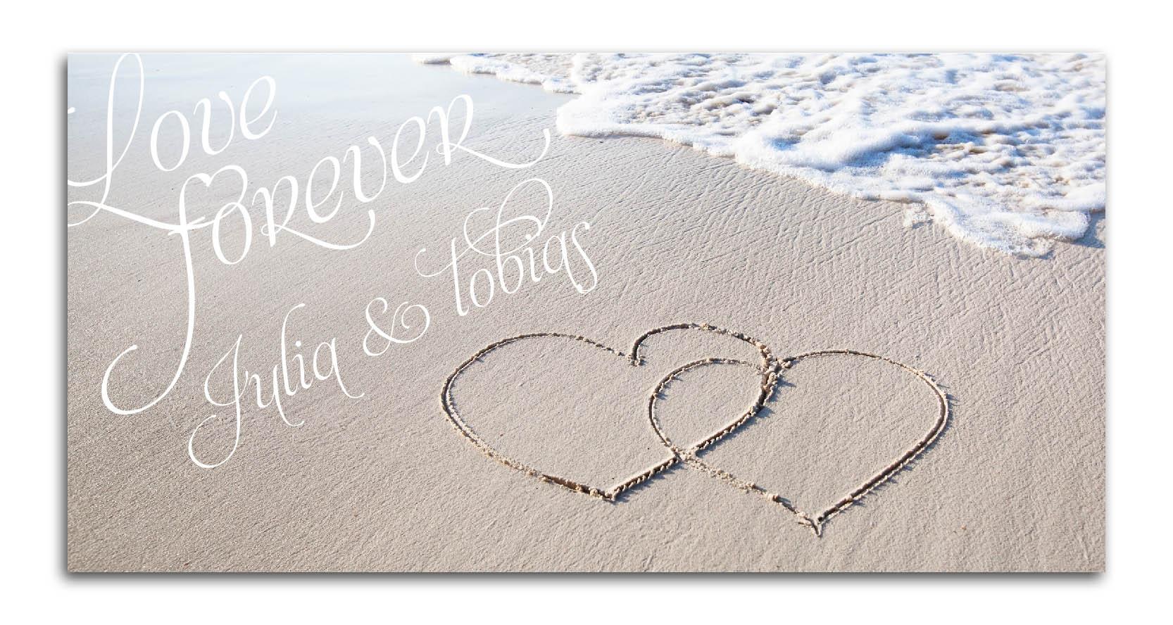 Hochzeitskarten im maritimen Stil mit Strand Meer und Muscheln  AlleKartende