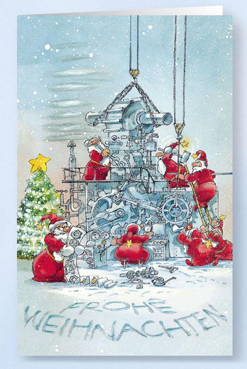 Weihnachtskarte Branchenkarte Maschinenbau