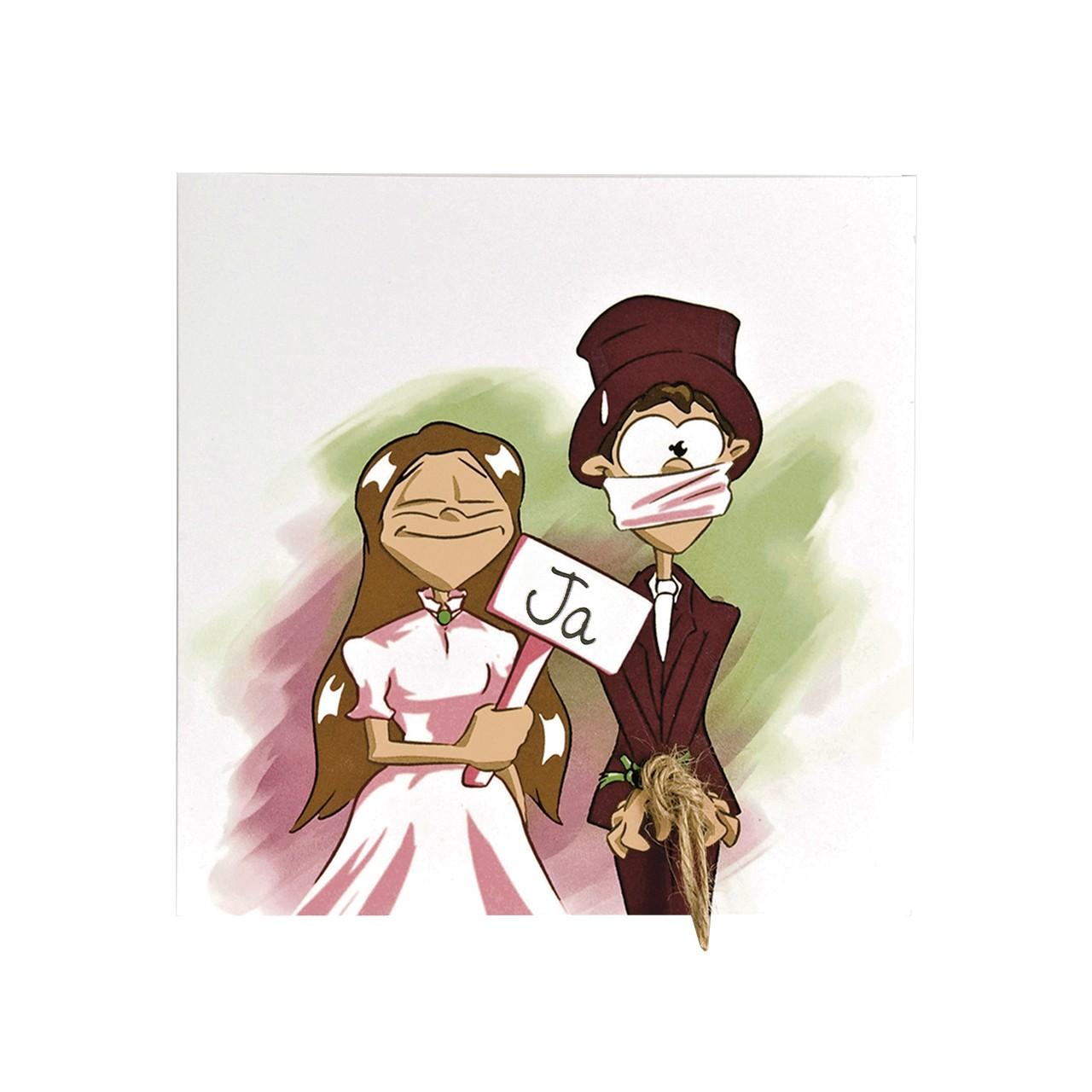 Hochzeitseinladungen Comic  Hochzeit