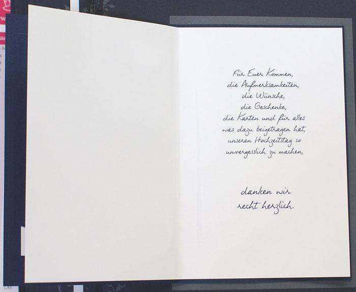 FotoDankkarte dunkelblau Herzen Danke ohne Text fzd08520