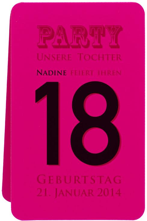 Blankokarte 175x11 cm pink  Beispiel Party 18