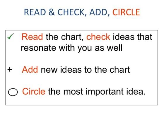 Read, check, circle