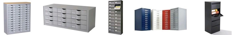 meuble metal a tiroirs ou clapets d