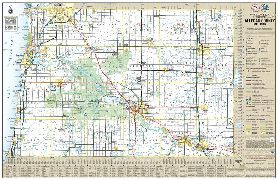maps allegan county road