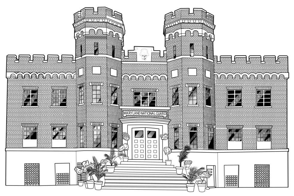 windsor castle aaa line art