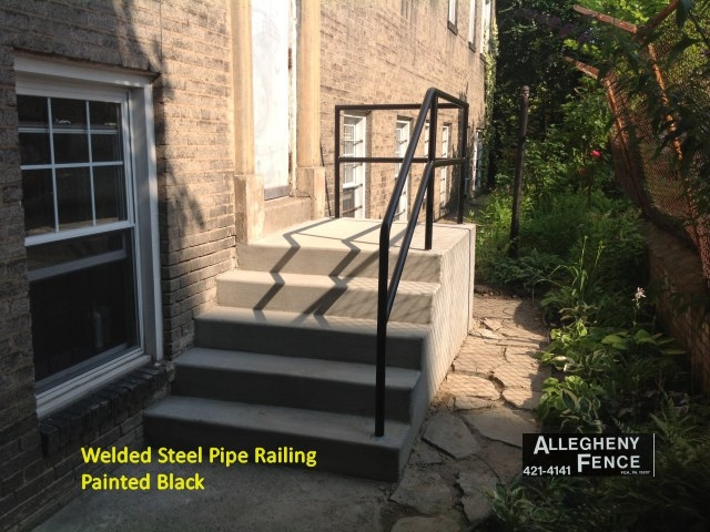 Pittsburgh Residential Railings And Columns Allegheny Fence   Galvanized Pipe Stair Railing   Garden   Plumbing Pipe   Water Pipe   Box Pipe   Deck