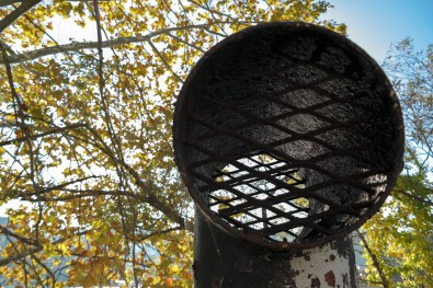 A vent at one of the sewer overflow sites. Photo: Lou Blouin