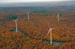 Duke Energy's North Allegheny Windpower Project east of Pittsburgh features 35 wind turbines and is capable of producing enough energy to power roughly 21,000 homes. Photo courtesy Duke Energy