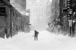 A man shovels snow in Portland, Maine during a blizzard in 2013. Even everyday tasks can put you at risk in extremely cold temperatures. Photo: Corey Templeton via Flickr