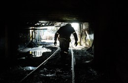 "A miner walks out of the Sewell ""R"" coal mine, Tuesday, October 6, 2015, in Yukon, West Virginia. The coal industry is facing tough times across West Virginia. Photo: AP / David Goldman"